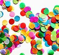 """2500 pcs 2/5 """"(1cm) multicolor confetti papel de seda rodada para a decoração da festa de aniversário"""