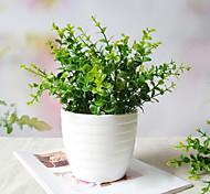 Plastic Eucalyptus Leaf Pot Plant
