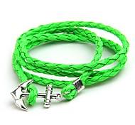 Fashion Hand Woven  Anchor Bracelets Random Color