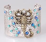 Fashion Rhinestones Scorpion Cuff Bangles Random Color