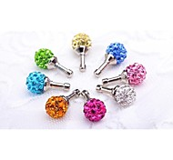 Universal Fashion Diamond Anti-dust Plug for Samsung Phones and Other Phones(Random Color)