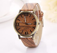 Women's Arabic Numerals  and Arrow  Digital Round Table Pure Color Teak Strap  Watch C&D-353