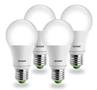 7W E26/E27 Lampadine globo LED G60 COB 560-630 lm Luce fredda AC 100-240 V 4 pezzi