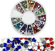 600PCS 12 Color Love Diamond Nail Art Decoration