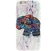 Relief Designed Colorful Elephant Design Hard Case for iPhone 6