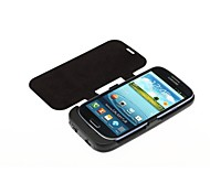 3500mAh Backup Battery Charger Stand Cover for Samsung Galaxy Note  i9300 - Black