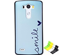 Smile Pattern PC Hard Case and Phone Holder for LG G3