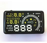coche hud cabeza up display ash-4c-bt pantalla de velocidad el consumo de combustible con la cabeza erguida obd teléfono celular ii herramientas de