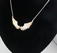 alas de moda del ángel collar colgante pendiente de la aleación de oro (1 unidad)