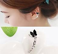 Fashion Diamond Butterfly Alloy Ear Cuff (Gold,Silver) (1 Pc)