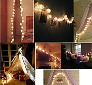 Storm Warm White Rattan Ball Fairy String Lights for Party Holiday Home Use With Battery box 10 Rattan Balls(1M)