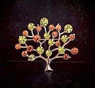 europeo vida estilo multicolor árbol rhinestone broche