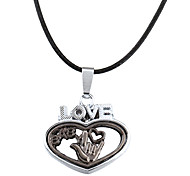 Men's Fashion Zinc Alloy Heart Pattern Necklace(1pc)