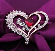 Fashionable Elegant Heart-shaped Brooch