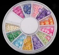 12 цвет фруктов мягкая керамика звездой сериала проигрыватель Nail Art Decoration