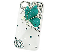 Plastics Diamond Butterfly Hard Case for iPhone 5/5S