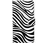 Attractive Zebra Style Pattern PU Leather Full Body Cover for iPhone 6 Plus