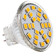 3W GU4(MR11) LED Spotlight 24 SMD 2835 230 lm Warm White / Cool White AC 12 V