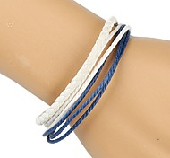 Fashion Braided Bracelet Simple and Comfortable White Blue (1 Piece)