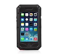 impermeável à prova de choque de metal casos apoio varejo vidro gorila id toque de impressão digital para iphone 6