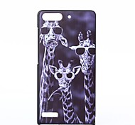 Glasses Giraffe Pattern PC Hard Case for Huawei G6