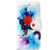 Seven-petaled Blossoms Pattern PU Leather Full Body Cover with Stand for iPhone 6