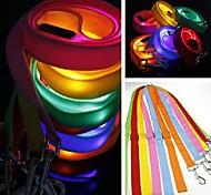 LED Luminous Pure Colour Leash for Pet Dogs(Assorted Colours)