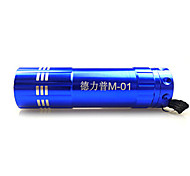 Delipow DLP-M-01 Single-Mode 9x Cree LED Zoom LED Flashlight(100LM, 3xAAA, Blue)