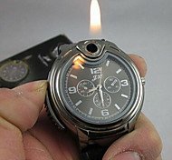 montre cool 2-en-1 + quartz butane flamme du briquet (couleurs assorties)