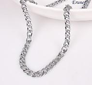 eruner®unisex plata de 5 mm collar de cadena No.116