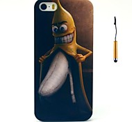 The Funny Peeling Banana Pattern PC Hard Back Cover Case with Touch Pen for iPhone 5/5s