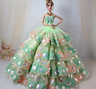 Barbie Doll Stunning Green Dress for Scarlett O'Hara