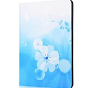 Blue flowers Pattern Leather Suitable for iPad 2/3/4