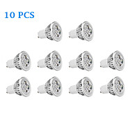 10 pcs GU10 5.5 W 4 High Power LED 330 LM Warm White/Cool White Spot Lights AC 85-265 V