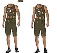 armée médaille militaire adultes costume vert hommes