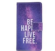 ser vivo patrón libre de la PU de la cubierta de cuero de cuerpo completo feliz con la tarjeta y caso del soporte para el arco iris wiko
