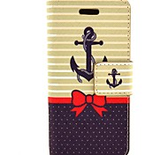 The Ship At The Bow Pattern PU Leather Full Body Case with Card Slot and Stand for iPhone 5C