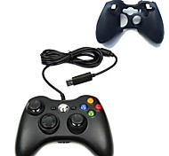 New USB Wired Game Pad Joypad Controller with Silicone case For MICROSOFT Xbox 360 Slim PC