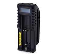 "NITECORE UM10 1"" LCD Lightweight Smart USB Li-ion Battery Charger(Black)"