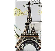 Eiffel Tower Pattern PU Leather Purse Stand Function Holster Case for HUAWEI Y330