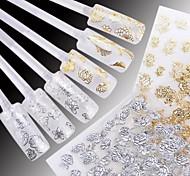 24 шт смешанного белом фоне горячей Yinhua 3D Nail наклейки