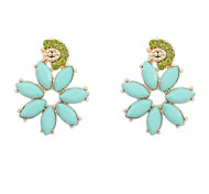Европейский стиль ул съемки прилив ретро цветок серьги