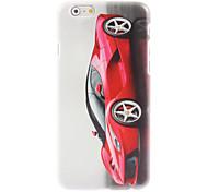 rouge étui rigide de conception de la voiture pour l'iphone 6