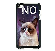 The Cat Leather Vein Pattern Hard Case for iPod touch 4