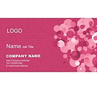 Personalized Business Cards 200 PCS Classic Red And Pink Pattern 2 Sided Printing of Fine Art Filmed Paper