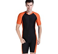 les hommes multicolore plongée protection nylon soleil sport combinaison maillots de bain