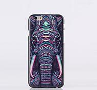 caso duro elefante patrón pc para el iphone 6 más