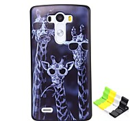 Giraffe Pattern PC Hard Case and Phone Holder for LG G3