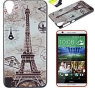 Für HTC Hülle Muster Hülle Rückseitenabdeckung Hülle Eiffelturm Hart PC HTC