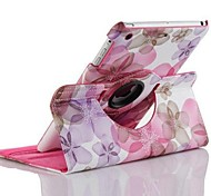 Fashion Lucky Flower Grain Rotary PU Full Body Case with Stand for iPad Air 2